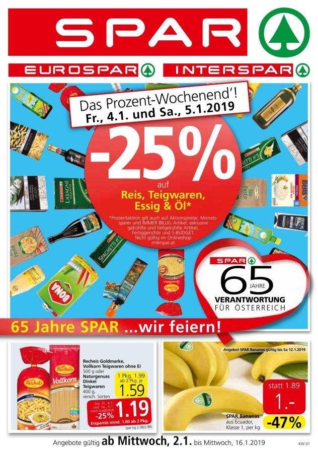Spar Angebote Gültig Von 02012019 Bis 16012019
